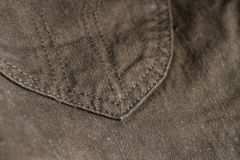 Macro blue jeans for background Stock Images