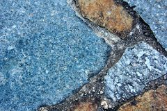 Macro Blue Rock Background 5 Stock Photos