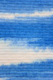 Macro Blue Watercolor on Textured Paper 3 Stock Photo