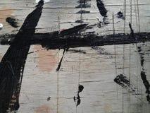 Macro bois rayé peint de texture par noir Photos stock
