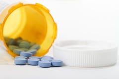 Macro bouteille de prescription Photo libre de droits
