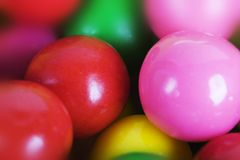 Macro bubble gum Stock Photos