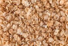 Macro buckwheat flakes texture. Stock Photo