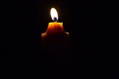Macro of burning candle Royalty Free Stock Image