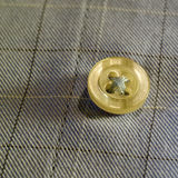 Macro button on his shirt Royalty Free Stock Image