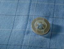 Macro button on his shirt Royalty Free Stock Photo