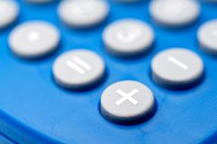 Macro of buttons on a calculator Royalty Free Stock Photography