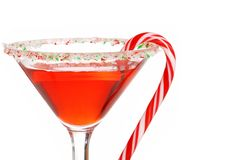 Macro candy cane martini shallow DOF Royalty Free Stock Photo
