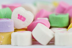 Macro Candy Heart Royalty Free Stock Photos