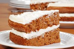 Macro carrot cake Stock Images