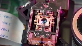Macro of cd-rom laser head 01 stock footage