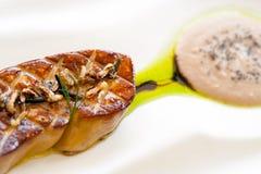Macro cercana para arriba de gras del foie. imágenes de archivo libres de regalías
