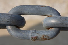 Macro of a chain link Royalty Free Stock Photography