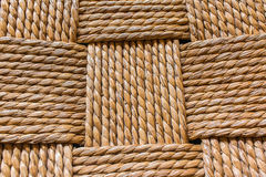 Macro of chair weave Royalty Free Stock Images