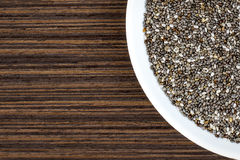 Macro Chia on Plate Stock Image