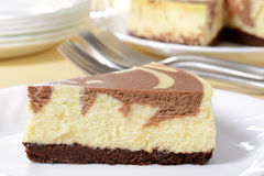 Macro chocolate cheesecake Royalty Free Stock Photography