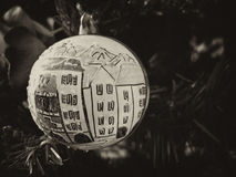 Macro of a Christmas Ball on the Tree Royalty Free Stock Photos