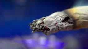 Macro of a cigarette stock video footage