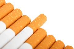 Macro of cigarettes Stock Photography