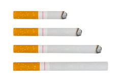 Macro of cigarettes Royalty Free Stock Photos