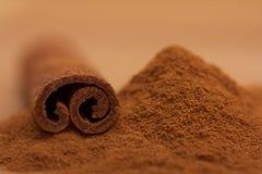 Macro cinnamon stick Royalty Free Stock Images