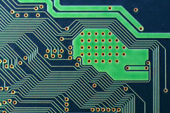 Macro of a circuit board Stock Photography