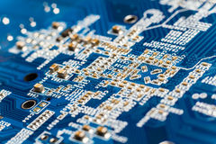 Macro circuit board background Stock Photos