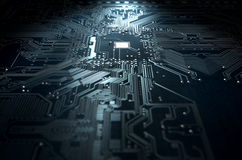 Macro Circuit Board Technology Royalty Free Stock Image