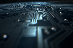 Macro Circuit Board Technology Stock Photo