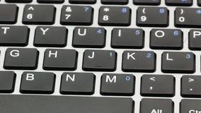 Macro clés de clavier d'ordinateur portable 4k clips vidéos