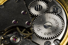 Macro of clock drive Stock Photo