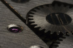 Macro of clock drive Stock Photos