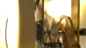 Macro of clock mechanism. Time Concept stock video footage
