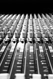 Audio Mixer Sound Board Black and White Royalty Free Stock Image
