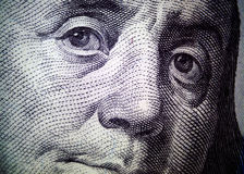 Benjamin Franklin, $100 dollar bill  Royalty Free Stock Photography
