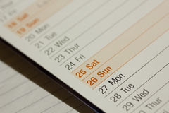 Blank Calender Royalty Free Stock Photography
