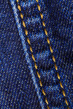 Macro close-up of denim jeans Stock Photo