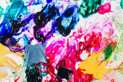 Macro close up of different color oil paint. colorful acrylic. modern art concept. royalty free stock photography