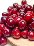 Macro a close up of fresh cherries and sweet cherries Royalty Free Stock Photos