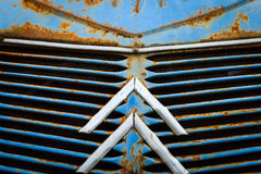 Macro close-up of front grill Royalty Free Stock Photo