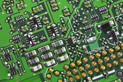 Macro Close Up High Tech Circuit Board Stock Image