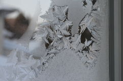 Macro close up of ice particles texture snow freezing Royalty Free Stock Image