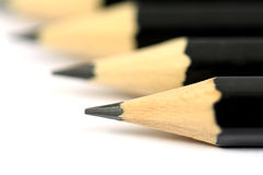 Macro close-up image of black pencils Royalty Free Stock Image