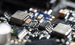 Macro close up of important chip Royalty Free Stock Images