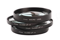Macro and close up lenses Stock Images