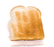 Macro Close-up of a Piece of toast Stock Image