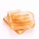 Macro Close-up of a Piece of toast Stock Photos