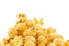 Macro close up popcorn isolated on white background. Close up popcorn isolated on white background Stock Photos