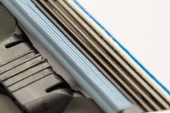 Macro Close Up of a Razor Blade Stock Photography