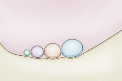Macro close up of soap bubbles Stock Image